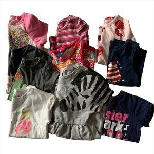 Lot of 10 Clothes Girl 4T Dress Top Shirts Disney Princess Christmas Long Sleeve